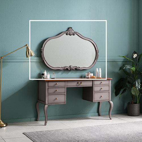 수입엔틱 엘라 그레이 와이드 거울