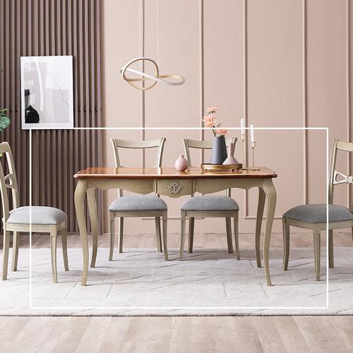 수입빈티지앤틱 카리나 로사 식탁 테이블