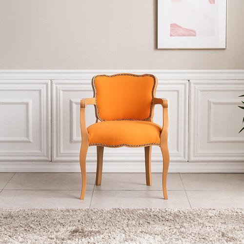 빈티지엔틱 아트라제 오렌지 1인 의자