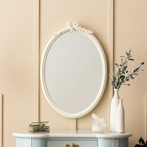 빈티지엔틱 아트라제 리본벽거울 화장대거울